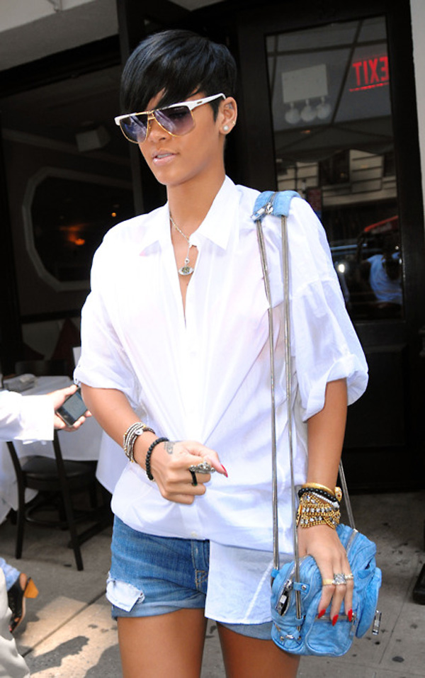 Rihanna goes to lunch at Philippe Chow in NYC