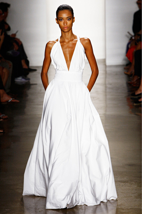white-maxi-dress-plunging-neckline